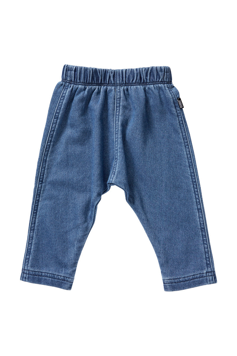 Bonds Terry Denim Pant - Mid Blue (3-6 Months)
