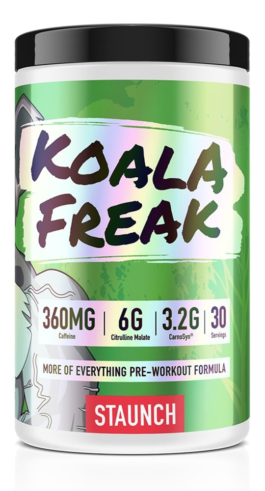 Staunch Nutrition Koala Freak Pre-Workout - Blue Raspberry (30 Serve)