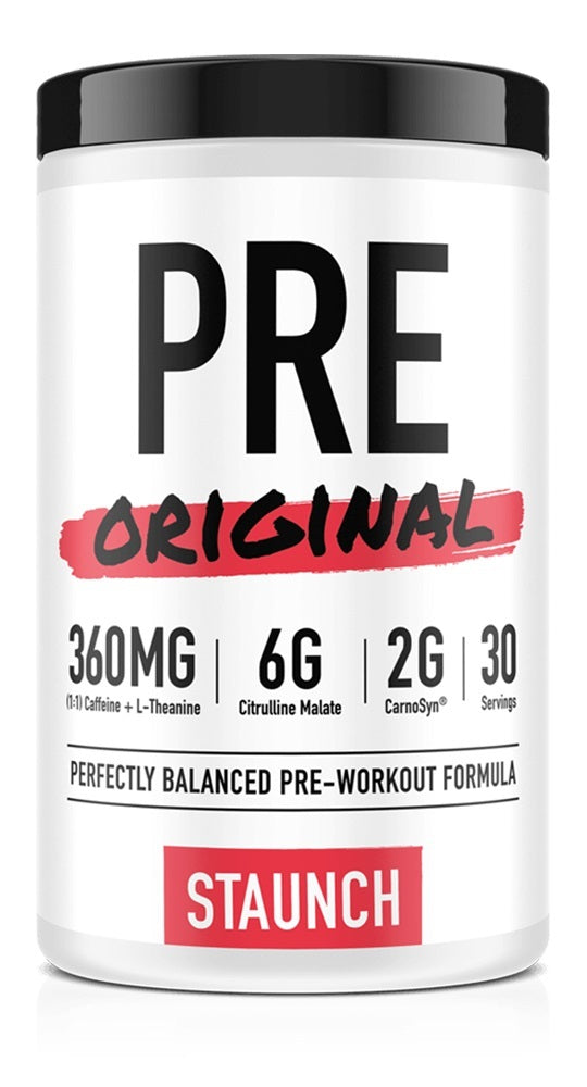 Staunch Nutrition Pre Original Pre-Workout - Peach Mango (30 Serve)
