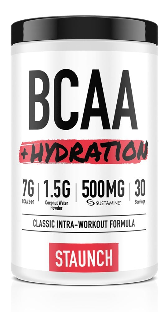 Staunch Nutrition BCAA + Hydration - Strawberry Coconut (30 Serve)