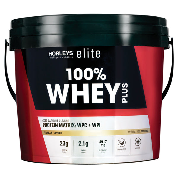 Horleys 100% Whey Plus - Vanilla (2.5kg)
