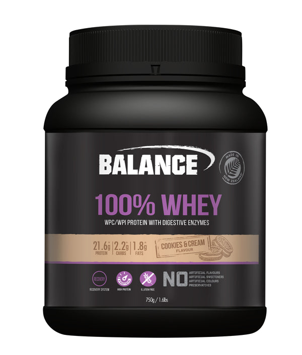 Balance 100% Whey Protein Powder - Cookies & Cream (750g)