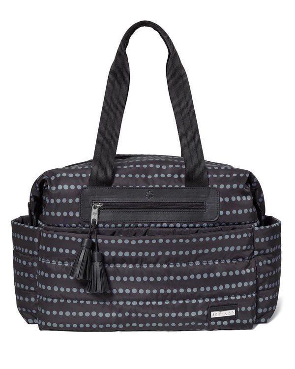 Skip Hop: Riverside Ultra Light Nappy Satchel - Black Dot