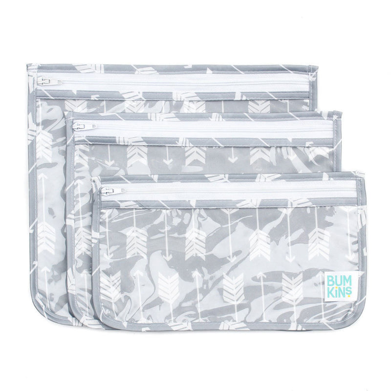 Bumkins: Clear Travel Bag - Arrows (3 Pack)
