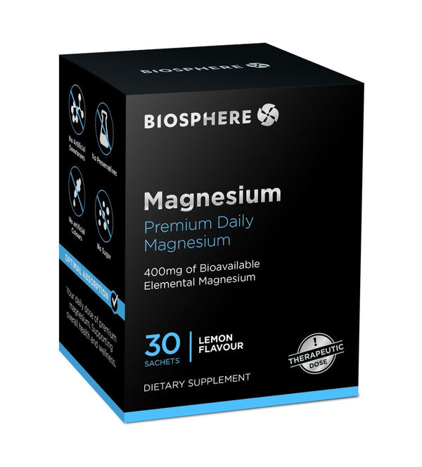 BioSphere Nutrition Magnesium Powdered 400mg (30 Sachets)