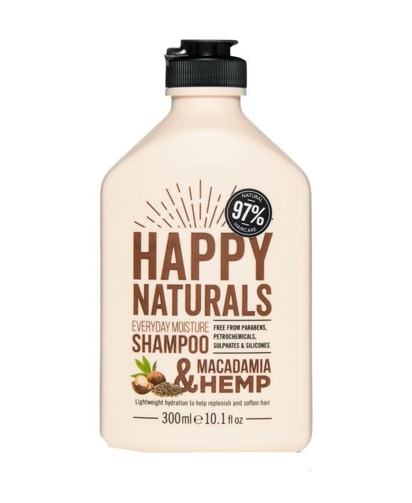Happy Naturals: Everyday Moisture Shampoo - Macadamia & Hemp (300ml)