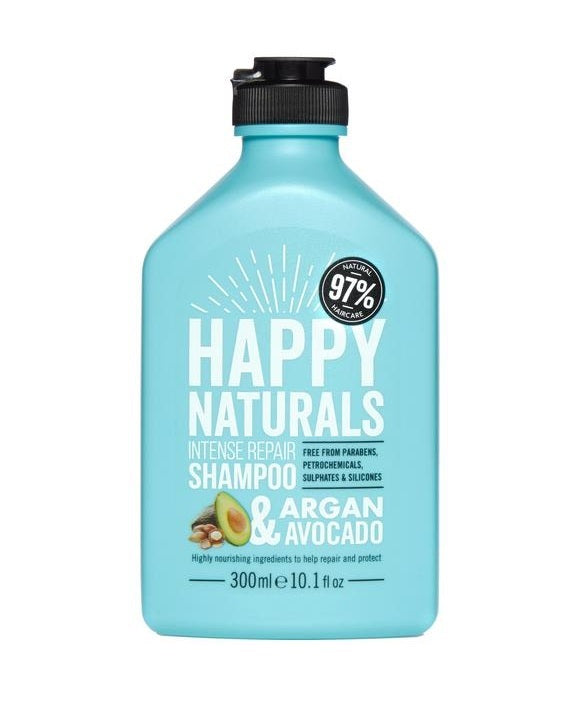 Happy Naturals: Intense Repair Shampoo - Argan & Avocado (300ml)