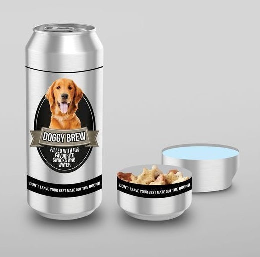 Dog Brew - Doggy Treats & Water Storage Tin