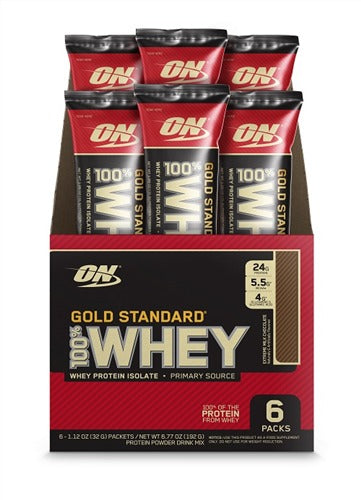 Optimum Nutrition Gold Standard 100% Whey Stick Packs - Extreme Milk Chocolate (6x30.4g)