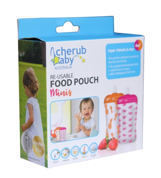Cherub: Reuseable Food Storage Mini Pouches (10 Pack)