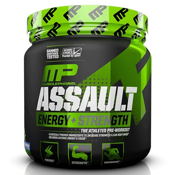 MusclePharm Assault Pre-Workout - Blue Raspberry (30 Servings)
