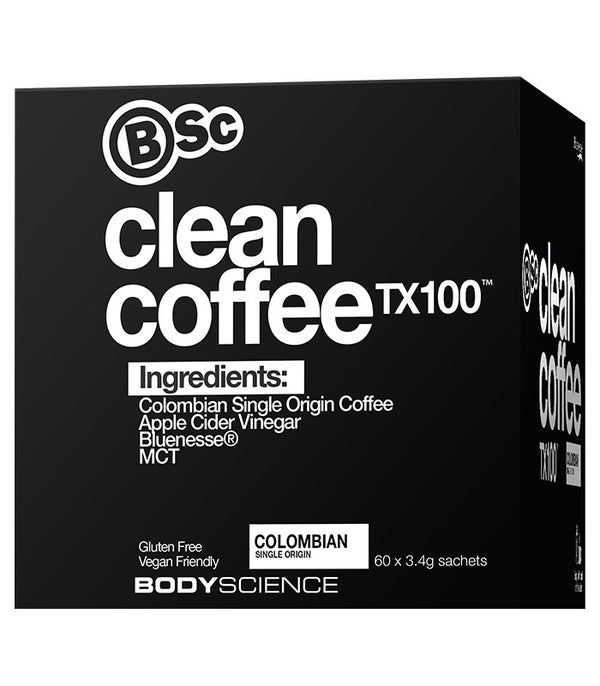 BSC Clean Coffee TX100 - MCT, Apple Cider Vinegar & Bluenesse (60x3.4g)