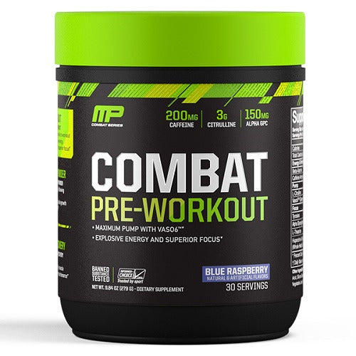 MusclePharm Combat Pre-Workout - Blue Raspberry (30 Serves)