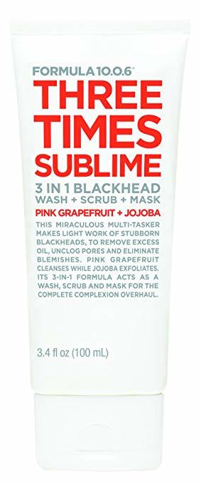 Formula 10.0.6 - Three Times Sublime Blackhead Wash, Scrub + Mask (100ml)