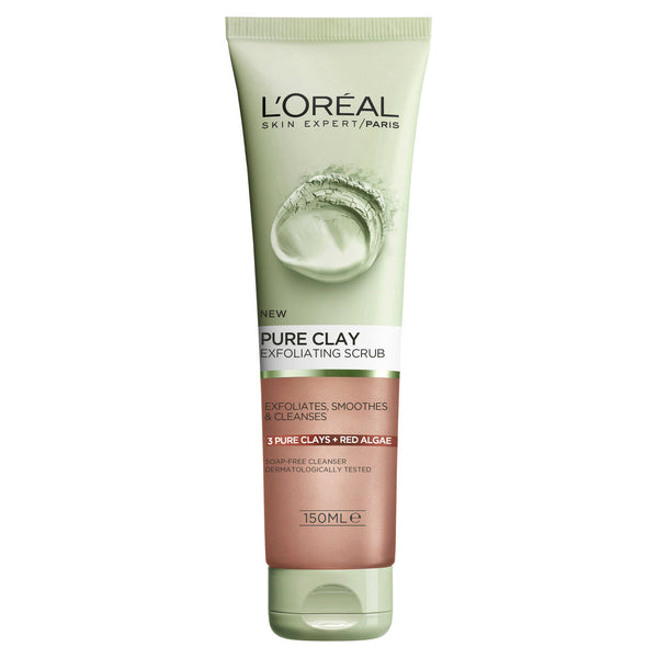 L'Oreal Paris Pure Clay Foam Exfoliating Scrub (150ml)