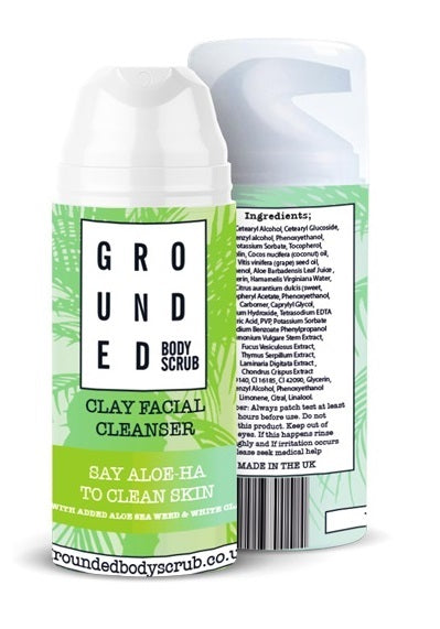Grounded Facial Cleanser - White Clay and Aloe Seaweed (100ml)