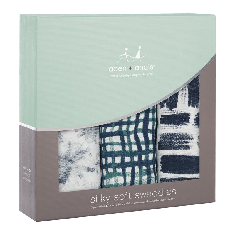 Aden + Anais: Silky Soft Bamboo Swaddle - Seaport (3 Pack)