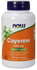 Now Supplements - Cayenne 500 mg (100 Vege Caps)