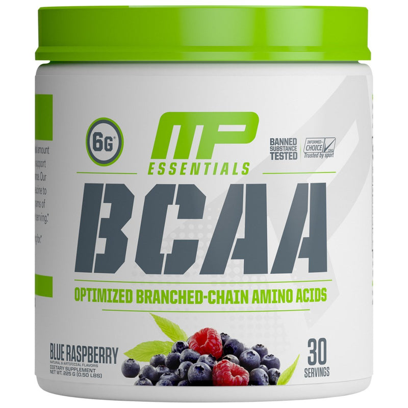 MusclePharm Essentials BCAA Powder - Blue Raspberry (30 Servings)