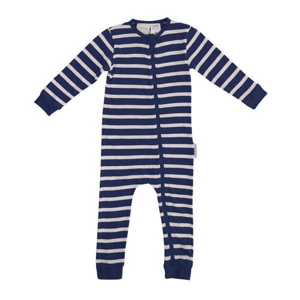 Woolbabe: Merino Organic Cotton PJ Suit - Midnight (6-12 Months)
