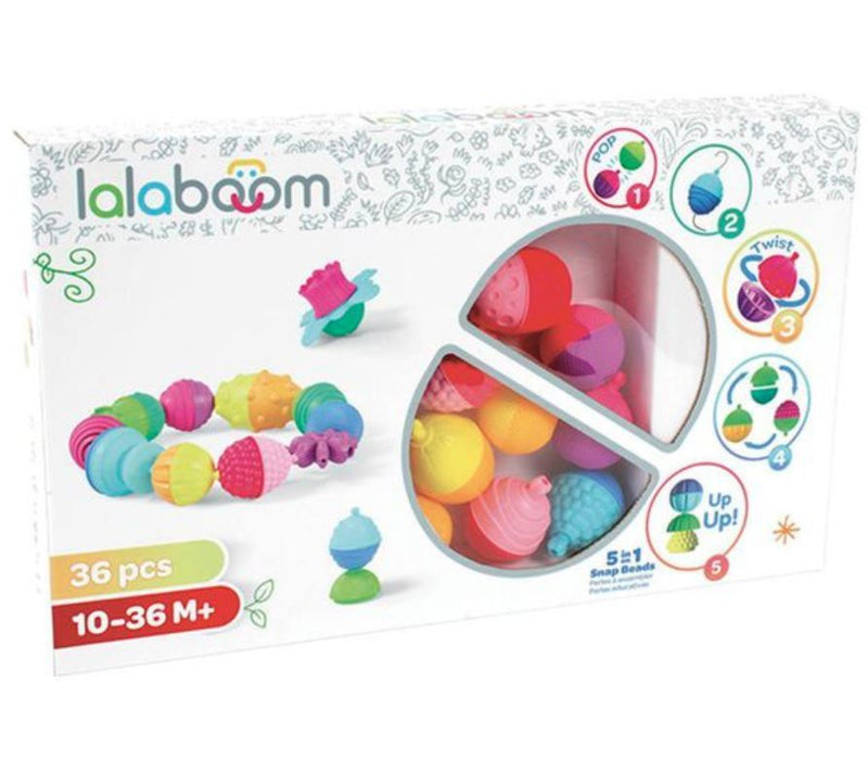 Lalaboom: 5 in 1 Snap Bead (36 Pack)