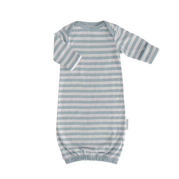 Woolbabe: Merino/Organic Cotton Gown - Tide/0-3 Months
