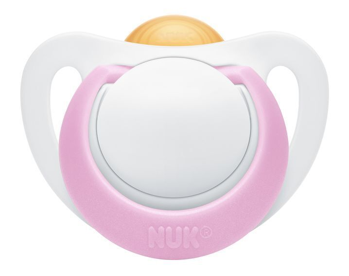 NUK: Genius Latex Soother - 0-6 Months Pink (2 Pack)