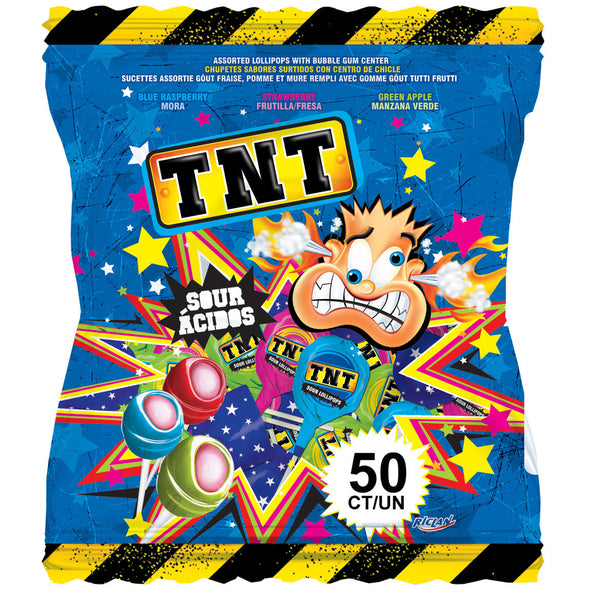 TNT Sour Lollipops 850g (50 Pieces)