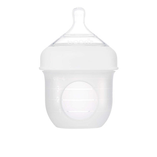 Boon Nursh Bottle - White (4oz)