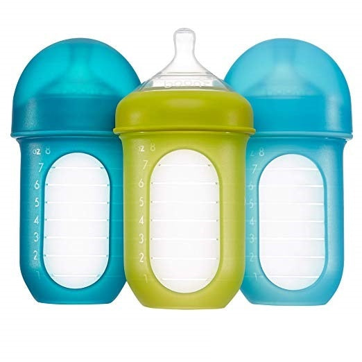 Boon Nursh Silicone Bottle 3pk - Blue (8oz)