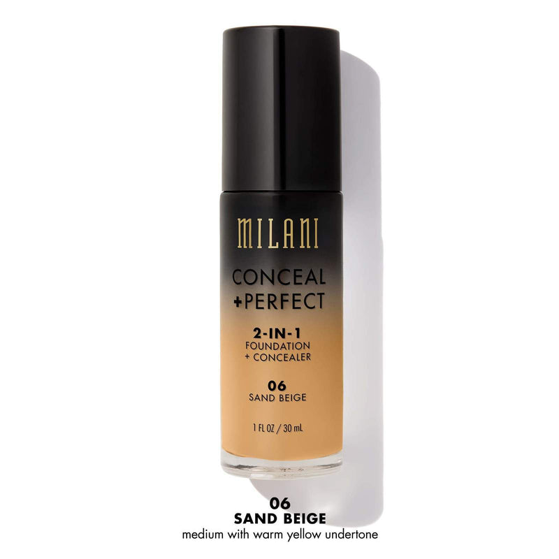 Milani Conceal & Perfect 2-in-1 Liquid Foundation - Sand Beige