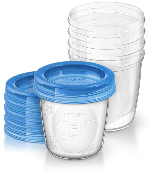 Philips Avent Milk Storage Cups - 180ml (5 Pack)