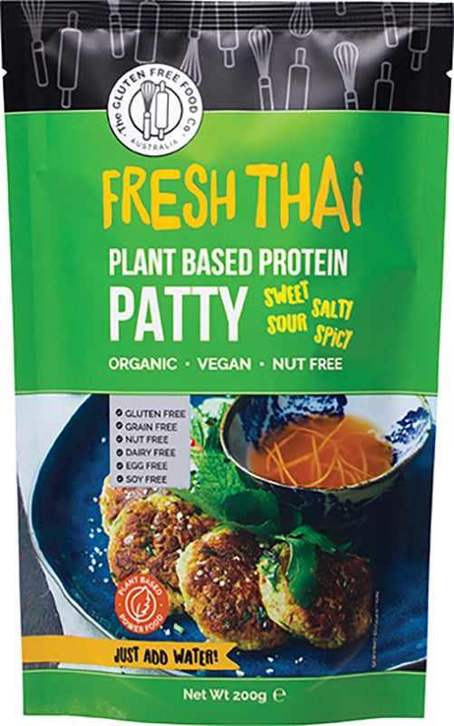Gluten Free Fresh Thai Plant Based Protein Patty (200g)
