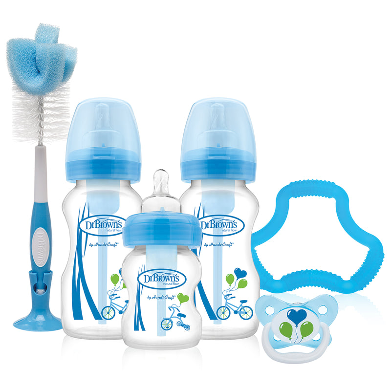 Dr Brown's Options Wide Neck Gift Set - Blue