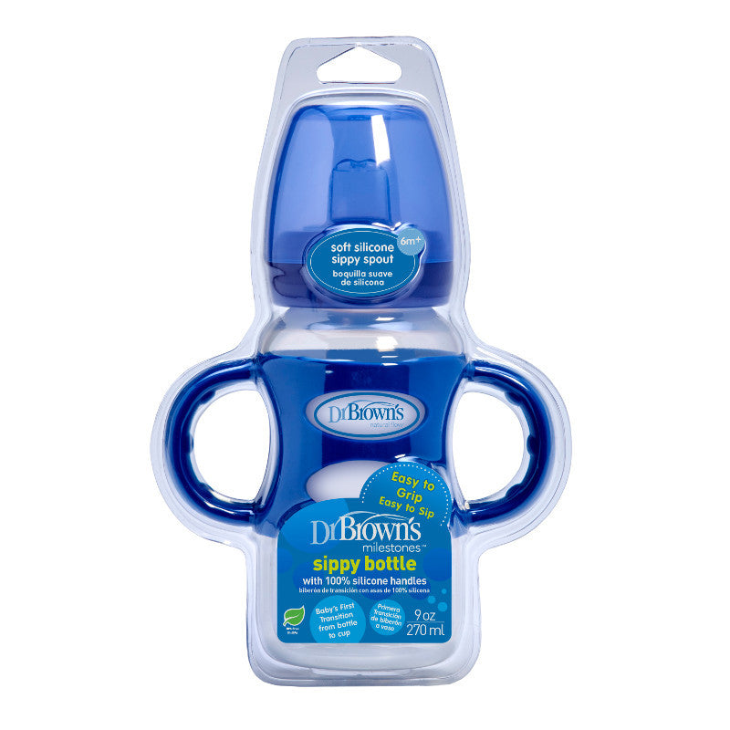 Dr Brown's Options Wide-Neck Sippy Bottle - Blue (270ml)