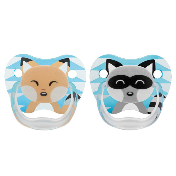 Dr Brown's PreVent Printed Shield Pacifier Blue Stage 1 - 0-6mths (2 Pack)