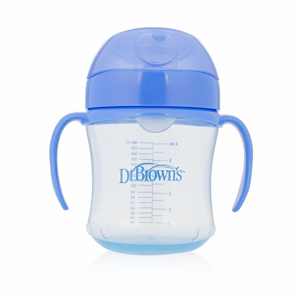Dr Brown's Soft-Spout Transition Cup with Handles 180ml - Blue (6m+)