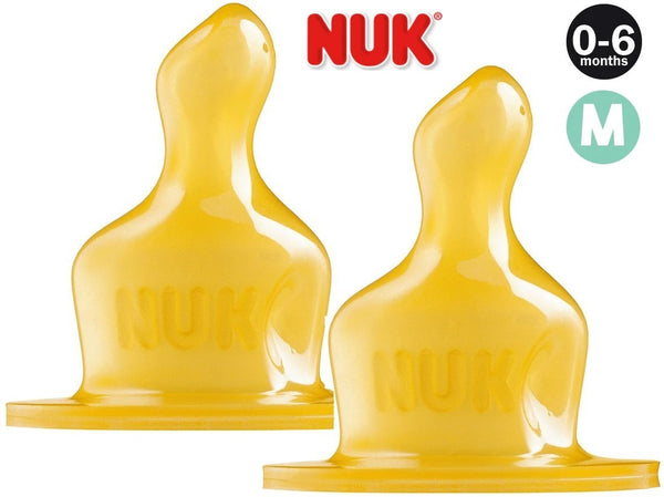 NUK:CLassic Latex Teat - Size 1 - Medium Hole (2 Pack)
