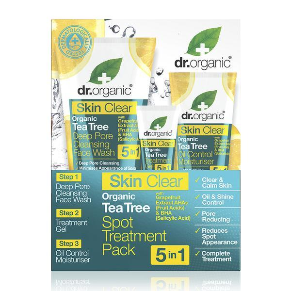 Dr. Organic - Skin Clear Organic Tea Tree Treatment Pack (3pc)