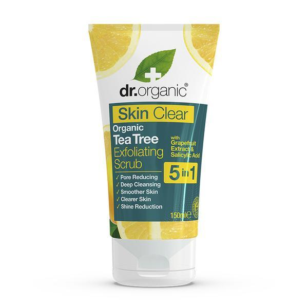 Dr. Organic - Skin Clear Organic Tea Tree Exfoliating Face Scrub (150ml)