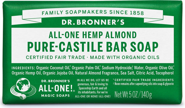 Dr. Bronner's Pure Castile Soap Bar - Almond (140g)
