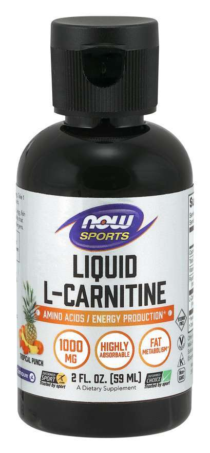 Now Foods: L-Carnitine 1000mg - Tropical Punch (59ml)