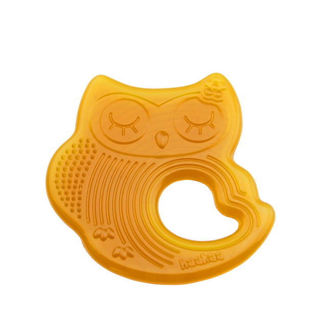Haakaa: Natural Rubber Owl Teether - Sleeping