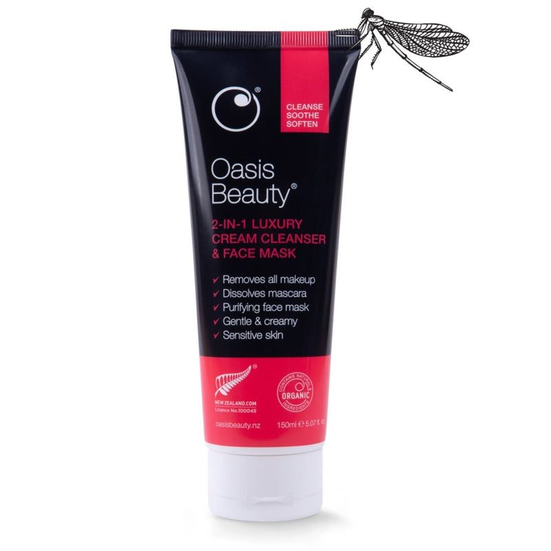 Oasis Beauty 2-in-1 Luxury Cream Cleanser + Face Mask (150ml)