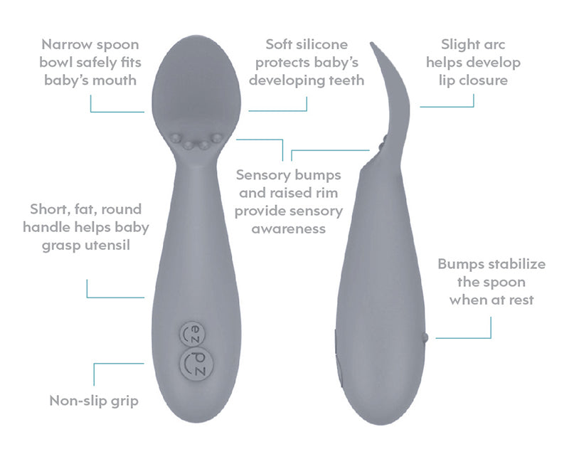 EZPZ Tiny Spoon - Pewter (2pk)