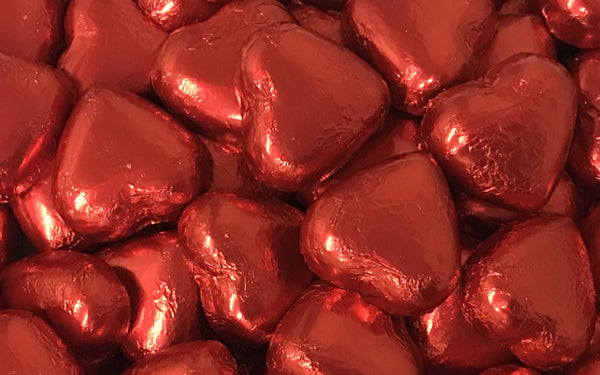 Milk Chocolate Hearts - Red