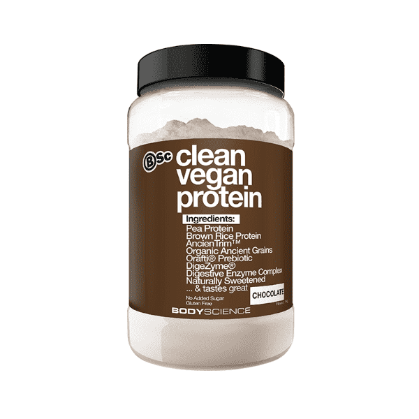 BSC Clean Vegan Protein – Chocolate (1kg, 22 Serves)