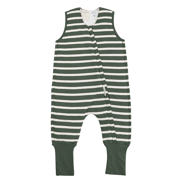 Woolbabe: Duvet Sleeping Suit Fern Stripe - 2 year