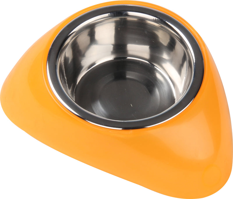 Pawise: Stainless Steel Bowl with Plastic Stand - Small/ 350ml
