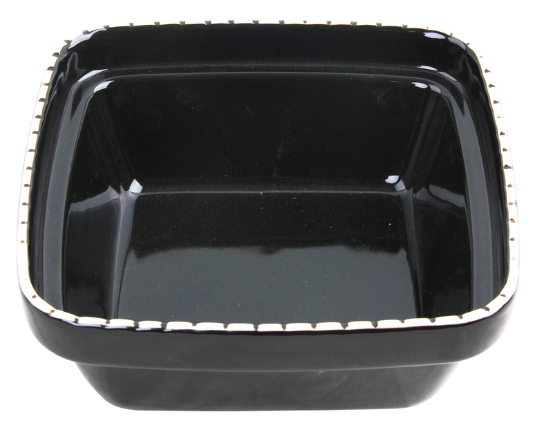 Pawise: Verona Ceramic Bowl - 550ml/Black